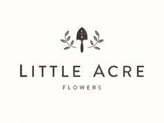 Little Acre Flower - Logo Design Graphic Design Branding, Logo Branding, Typography Design, Packaging Design Inspiration, Logo Inspiration, Florist Logo, Agriculture Logo, Farm Logo, Flower Logo