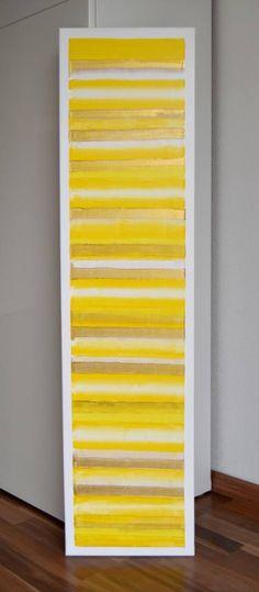 "Saatchi Art Artist Astrid Stoeppel; Painting, ""Golden stripes!"" #art"
