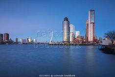 Blue hour in Rotterdam by Ilya Korzelius.