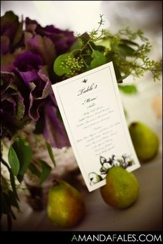 pear menu holders Menu Holders, Place Card Holders, Party Looks, Pear, Place Cards, Wedding Decorations, Photography, Fotografie, Photograph