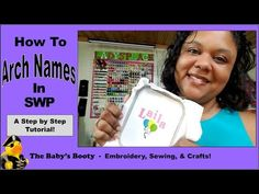 How to Arch Name for Embroidery with Sew What Pro! Curve text is easy! - YouTube