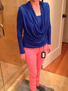 Stitch fix 1: shirt is great. Keep! Pants not a good fit in waist/crotch. Gave to daughter.