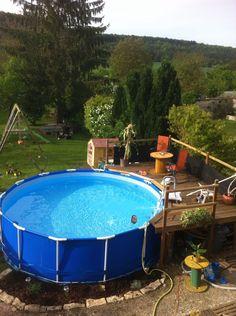 Piscineboissemienterréemjpg Bedrooms Pinterest - Deco piscine hors sol