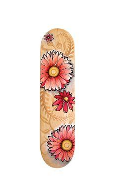 Baby Girl Skateboard deck/ Original flower design for by SkateBaby