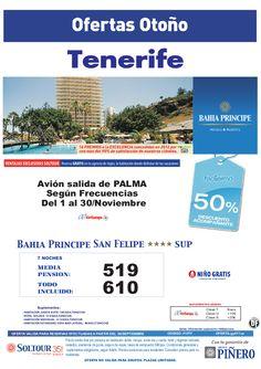 Tenerife: 50% Bahía Príncipe San Felipe salidas desde Palma de Mallorca - http://zocotours.com/tenerife-50-bahia-principe-san-felipe-salidas-desde-palma-de-mallorca/