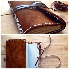 Leather notebook rosemarine. / Pre ňu