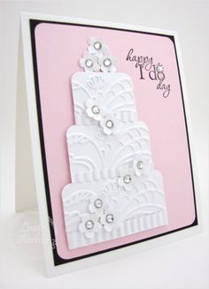 Stampin' Up Wedding Cards Paper Cards, Diy Cards, Cumpleaños Diy, Wedding Shower Cards, Wedding Cards Handmade, Engagement Cards, Wedding Anniversary Cards, Embossed Cards, Love Cards