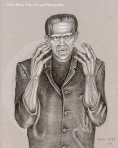 Frankenstein's Monster Fine Art Print by BeckyTylerArt on Etsy