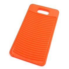 Orange Plastic Mini Washboard Clothes Washing Laundry Hand Wash Cleaning Board