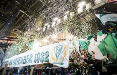 TIFO during the celebrate of Färjestad BK 80 years.