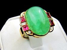 Designer 18k Gold 32.5tcw 30 Emerald 2.5ct Pink Tourmaline Diamond Ring 16.4 gms