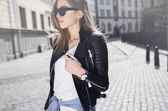 cute black biker jacket