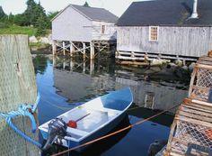 Wharf in Hunts Point, Nova Scotia's South Shore