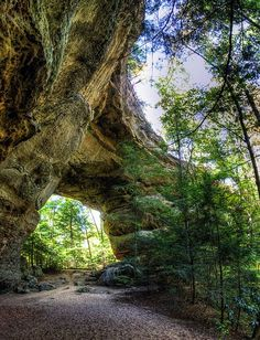 Twin Arches Loop Trail at Big South Fork National River in Tennessee, USA
