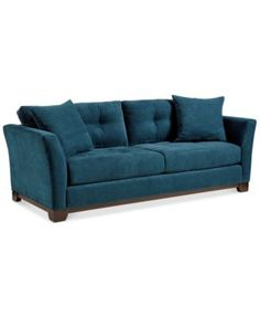 Tilly Fabric Sofa | macys.com in do lake blue. Sale now $599 from $699 90/37/29 h poly microfiber. Biscuit-tufted cushions all reverse. 2 toss pillows 4.5/5 (4 reviews) also granite
