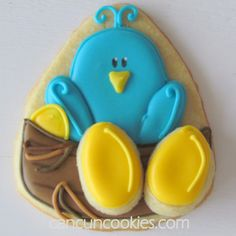 CancunCOOKIES: little bluebird and nest with eggs