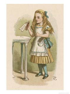Lysergic Alice Diethylamide … Alice about to sample Lewis Carroll's mind alterer drawn by Sir John Tenniel. John Tenniel, Lewis Carroll, Don Delillo, Alice In Wonderland Illustrations, Pin Up, Collage, How To Grow Taller, Adventures In Wonderland, Through The Looking Glass