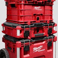 Tote Storage, Garage Storage, Shelf Bins, Steel Shelving, Tool Store, Milwaukee Tools, Modular Storage, Shelving Systems