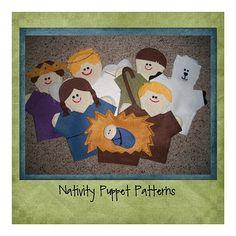 Nativity puppets so cute!