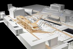 Image 25 of 25 from gallery of Helsinki Central Library Competition Entry / STL Architects. Courtesy of STL Architects Chinese Architecture, Art And Architecture, Architecture Details, Steel Structure Buildings, Study Room Design, Central Library, Arch Model, Roof Detail, Modelos 3d