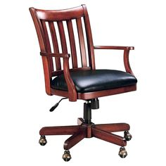 Mission Style Oak Office Chair