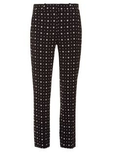 Micro geometric-print tailored trousers | Givenchy | MATCHESFASHION.COM
