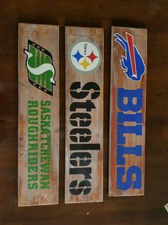 Sports Team Distressed Wood Sign  NFL/NHL/NBA