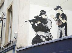 106 Awesome Banksy Graffiti Drawings #banksy #art #graffiti