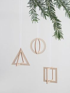 Geometric Christmas ornaments - figure out a way to make these