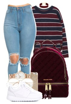 """"""" Everybody keep on saying I'm too young to be falling in love """" by mindlesspolyvore ❤ liked on Polyvore featuring Michael Kors, Marc by Marc Jacobs and NIKE"""