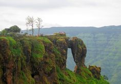 Mahabaleshwar, Maharashtra - A lovely hill station in the Western Ghats and home to one of the world's few evergreen forests. Also a summer capital during the Raj. The picture shows Elephant head point.