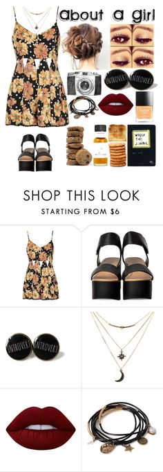 """""""About A Girl"""" by brianawatson21 ❤ liked on Polyvore featuring Topshop, Charlotte Russe, Lime Crime, Forever 21 and Butter London"""