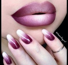 Love plum and white color, nails entirely too long.
