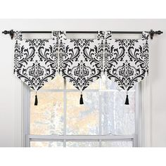 Arbor Ivory/Black Banner Valances (Set of 3) | Overstock.com Shopping - The Best Deals on Valances