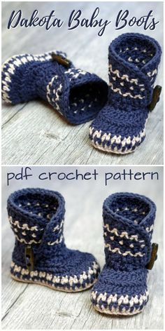 Baby Booties - O Sew Lovely - - Baby Booties Gorgeous Dakota Baby Boots crochet baby slipper pattern! Love this gorgeous design! A Nordic-inspired baby booties pattern!Baby Booties I've got babies and boots on my mind these days because it snowed h Baby Shoes Pattern, Shoe Pattern, Baby Patterns, Baby Bootie Pattern, Sewing Patterns, Crochet Baby Boots Pattern, Crochet Baby Socks, Crotchet Baby Shoes, Knitting Patterns Baby