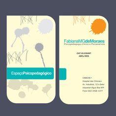Cartão de Visita - frente e verso