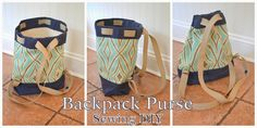 Logic and Laughter: DIY Backpack Purse - Sewing A Diaper Bag Purse