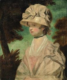 Artwork by Sir Joshua Reynolds, Portrait of Miss Theophila Palmer niece of Sir Joshua Reynolds, half-length, in a white dress and bonnet, Made of oil on canvas Miss Palmer, Joshua Reynolds, 18th Century Clothing, Classic Paintings, American War, Historical Costume, Portrait Art, Portraits, Ancient Art