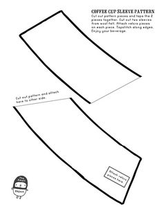 coffee cup sleeve pattern by The Small Object, via Flickr