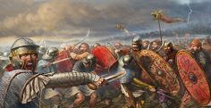 Roman Legionaries fight against the Dacians at the second battle of Tapae, AD 101. Artwork by Radu Oltean.