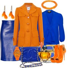"""""""Sin título #656"""" by nuria-pellisa-salvado on Polyvore Bow Tops, Fashion Outfits, Fashion Sets, Blue Blouse, Wool Coat, Leather Skirt, Autumn Fashion, Fashion Looks, Dressing"""