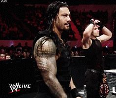 Reigns and Ambrose [gif]