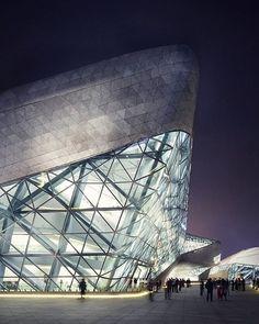#architecture_hunter R.I.P. Zaha Hadid. Guangzhou Opera House, in Guangzhou, China, by the great Zaha Hadid and Patrik Schumacher