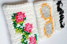 Cross Stitch and Crochet Cozy pdf pattern for Iphone von AlaSascha, $3.99