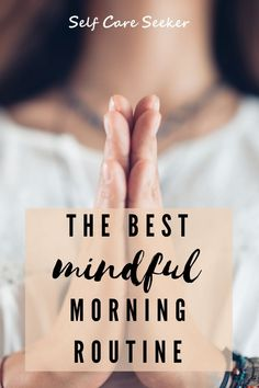 Wow this mindful morning routine post has so many great tips on meditation for beginners. I have been adding mindfulness activities into my morning routine and it has had a huge impact on my day, boosting my mood and focus. #mindfulmorningroutine Guided Meditation Apps, Mindfulness Meditation, Mindfulness Exercises, Mindfulness Activities, Habit Quotes, Building Self Esteem, Habits Of Successful People, Learn To Meditate, Negative Self Talk