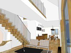 Dom w Wróblowicach - projekt wnętrz, wizualizacja