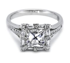 """Really Unique Princess Cut Setting...Is This Technically A Halo??...Maybe It's A """"Frame!"""" LOL"""
