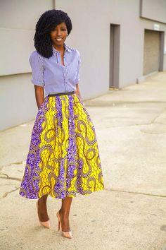 What does she wear ? Blouses J. CREW Long Skirts Demestiks New York Pumps Christian Louboutin http://stylepantry.com