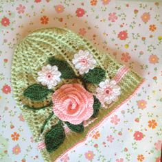 Crochet Panama hat clouche hat Easter hat by LoopsyDaisyDesigns