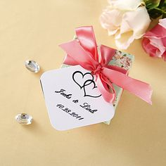 Personalized Favor Tags - Double Heart (set of 36) – USD $ 2.99